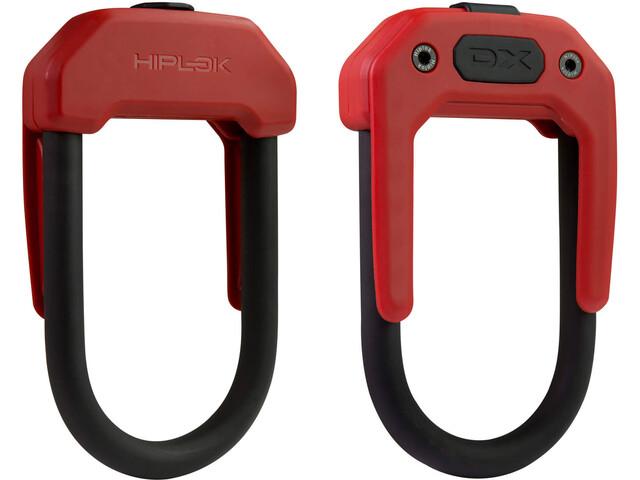 Hiplok DX Cykellås rød/sort